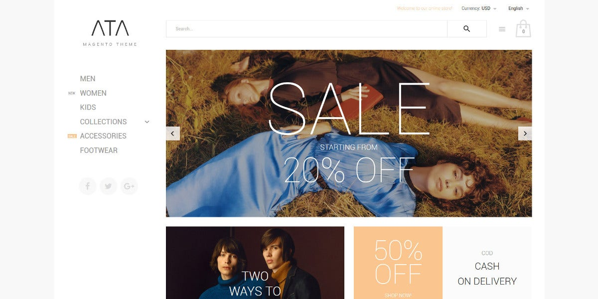 Fashion Wear Clothes Magento eCommerce Theme $179