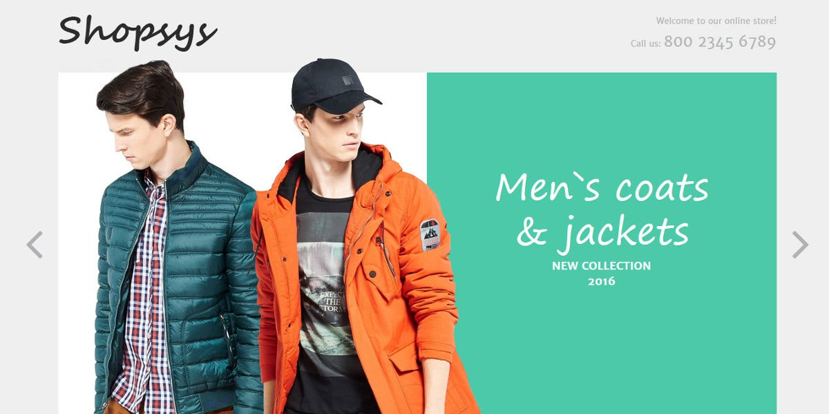 Men's Designer Clothing eCommerce Magento Theme $179