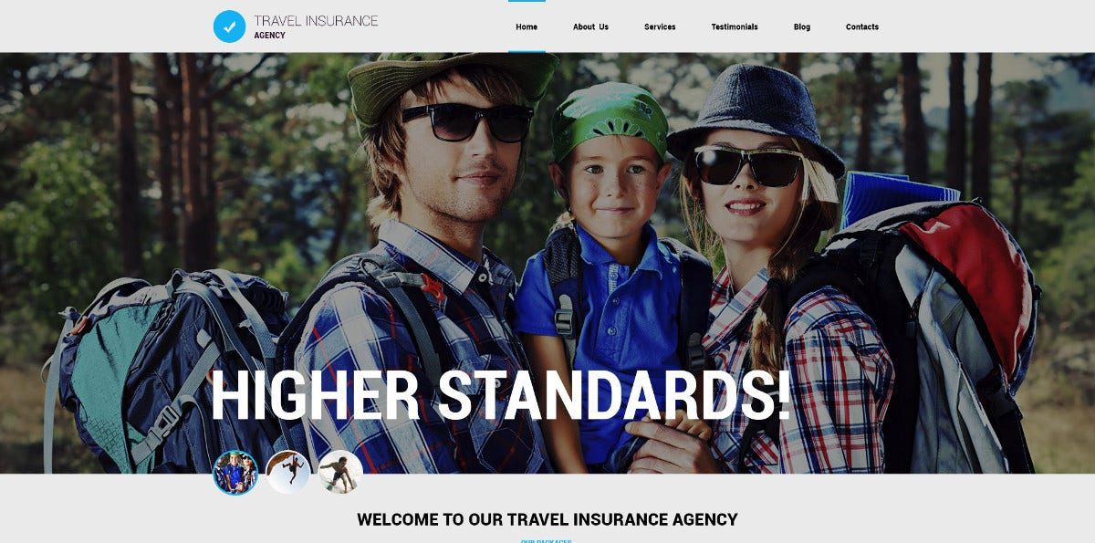 Travel Agency Responsive Joomla Template $75