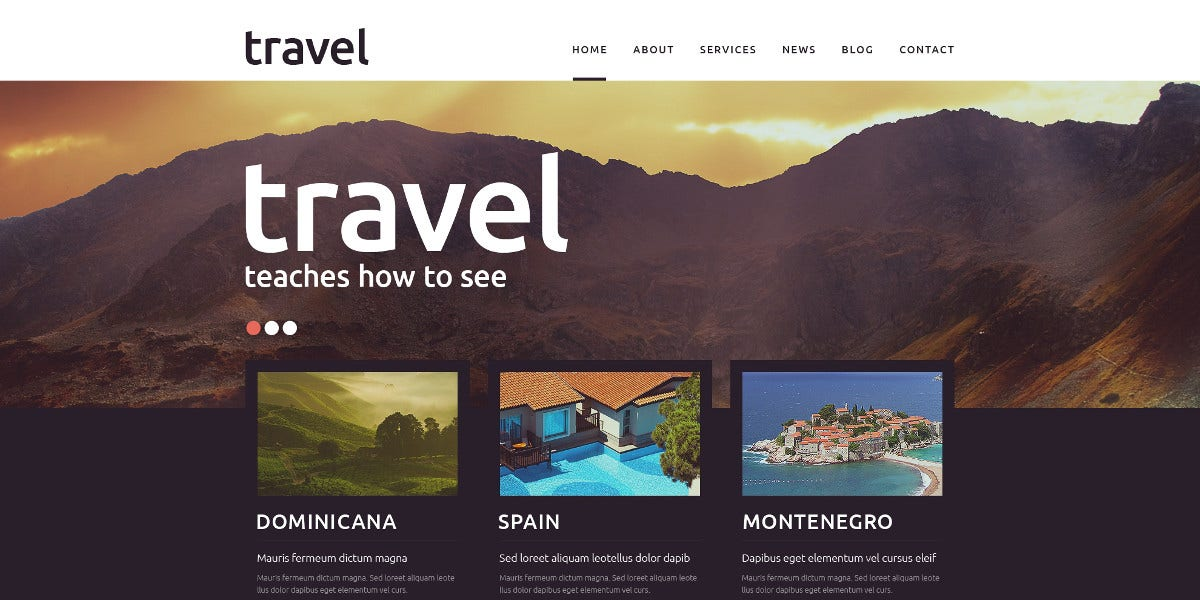 Travel Agency Spot Joomla Template $75