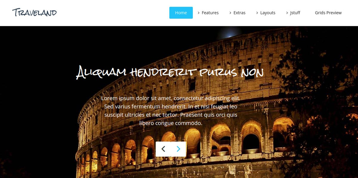 Design Responsive Joomla Template for Travel Agency