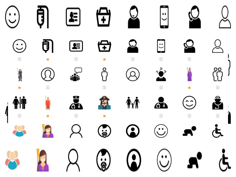 group of people isometric icons