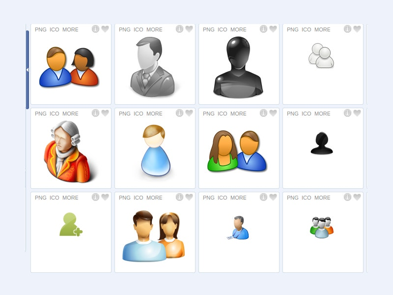 set of different group people icons