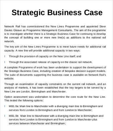 Strategic Business Case Template