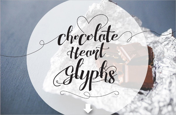 Chocolate Heart Wedding Font