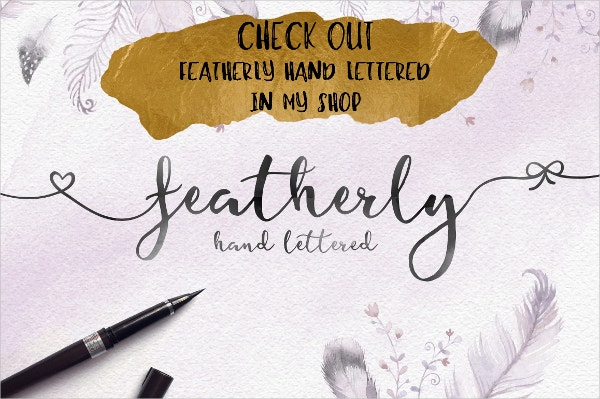 Elegant Featherly Wedding Font
