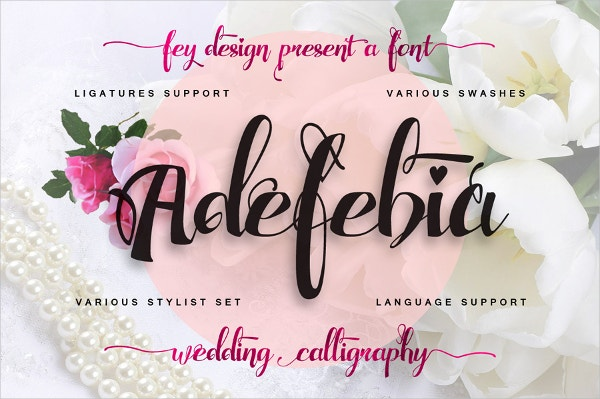 Adefebia Awesome Wedding Fonts