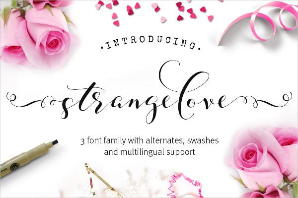 Strangelove Calligraphy Wedding Font