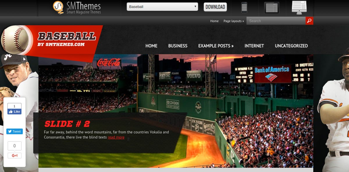 Freec Baseball WP Website Theme