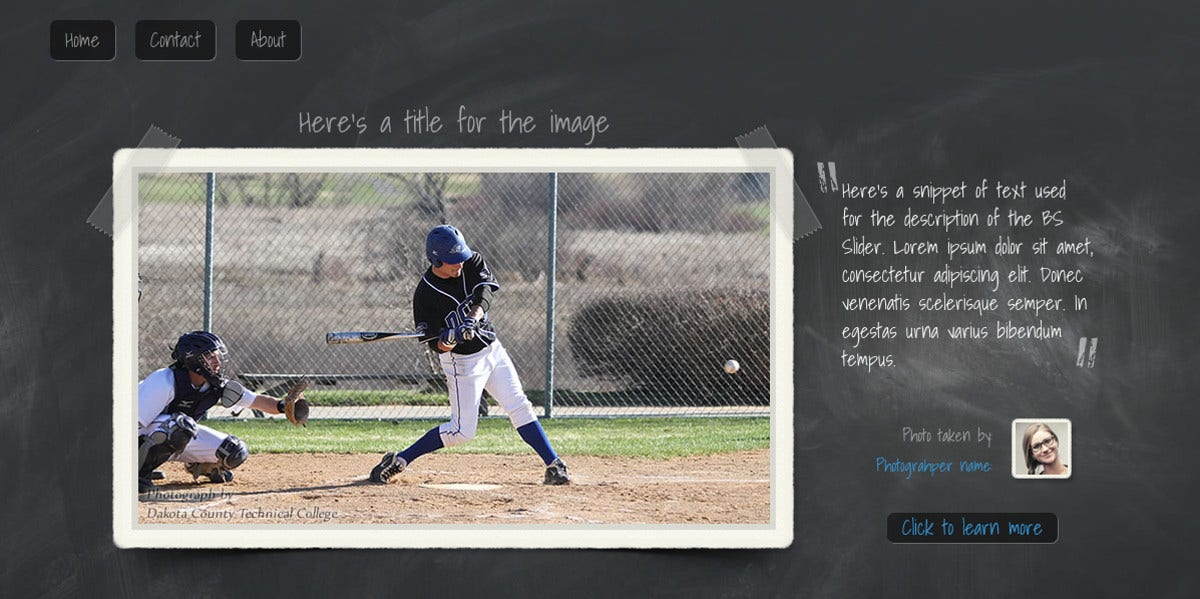 Unique Baseball Sport Website Template