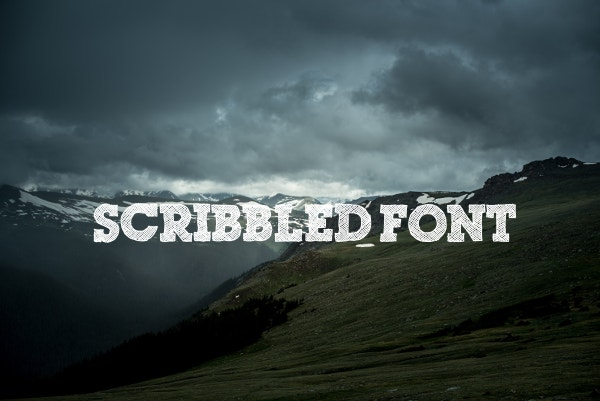 Grunge Scribble Font