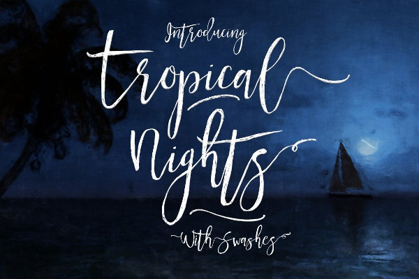 Tropical Nights Scribble Font