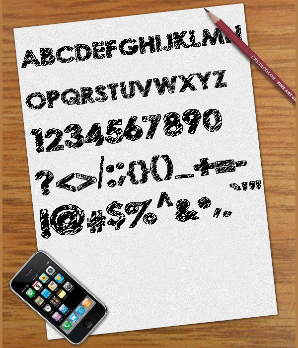 Crazy Scribble Font