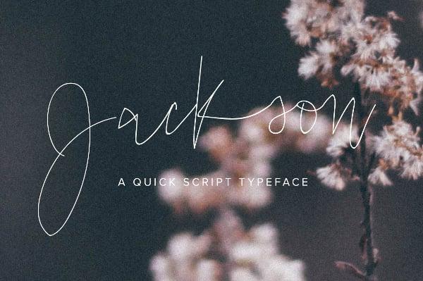 Jackson Scribble Font