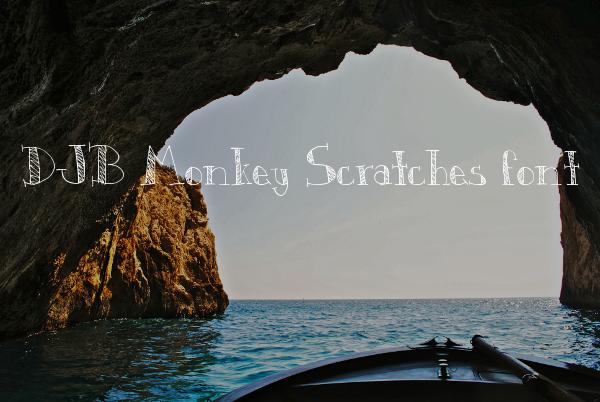 DJB Monkey Scribble Font