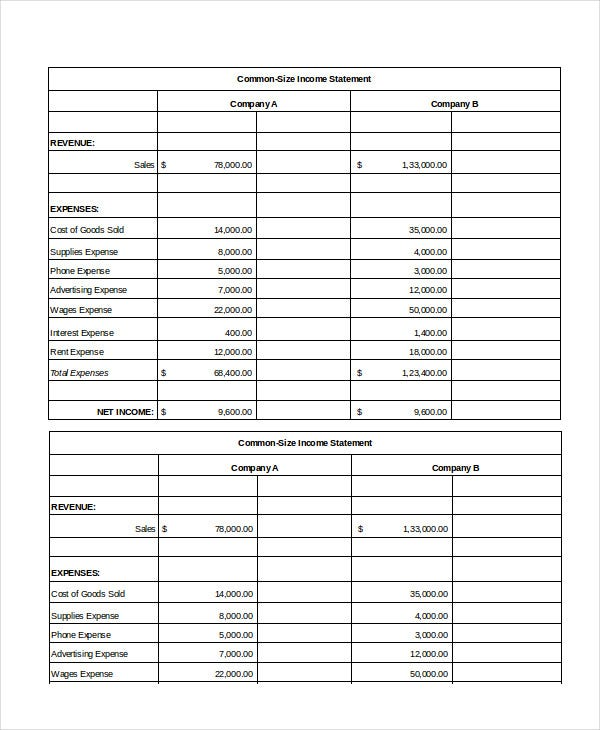 Excel Income Statement 7 Free Excel Documents Download Free