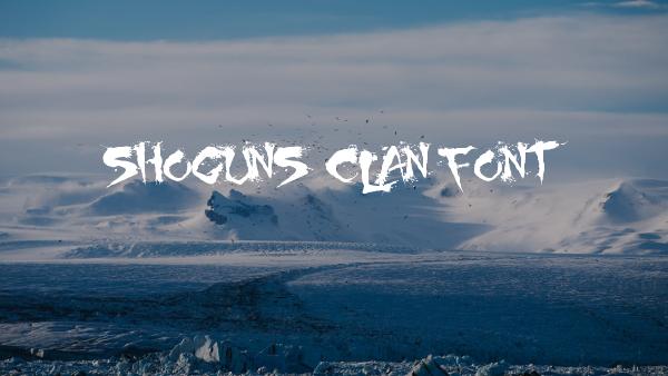Shoguns Grunge Font