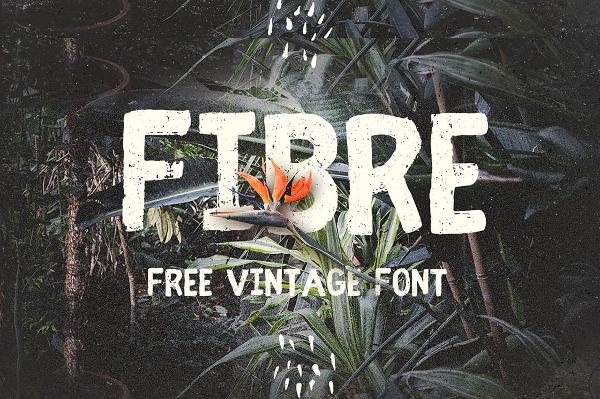 Fibre Grunge Font