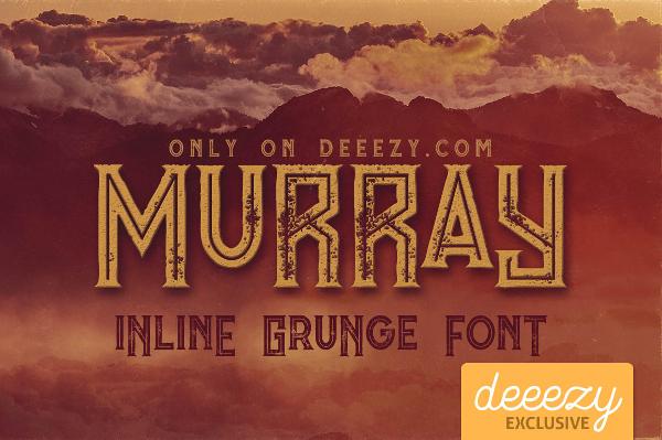 Murray Inline Grunge Font