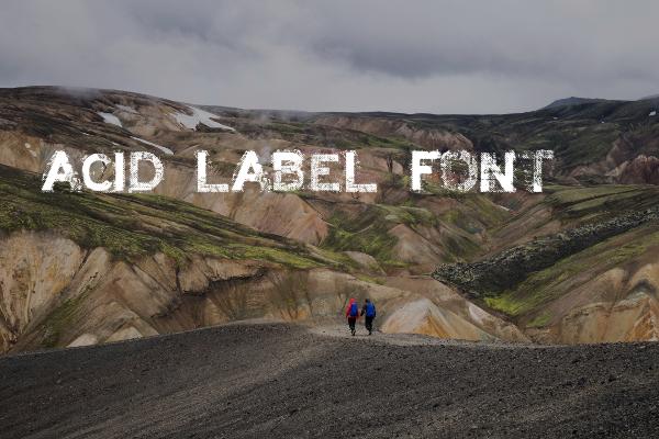 Acid Label Grunge Font