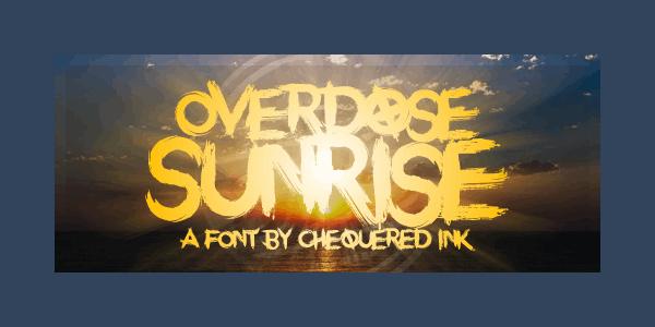 Overdose Sunrise Grunge Font