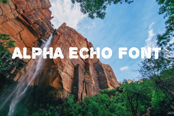 Apha Echo Font