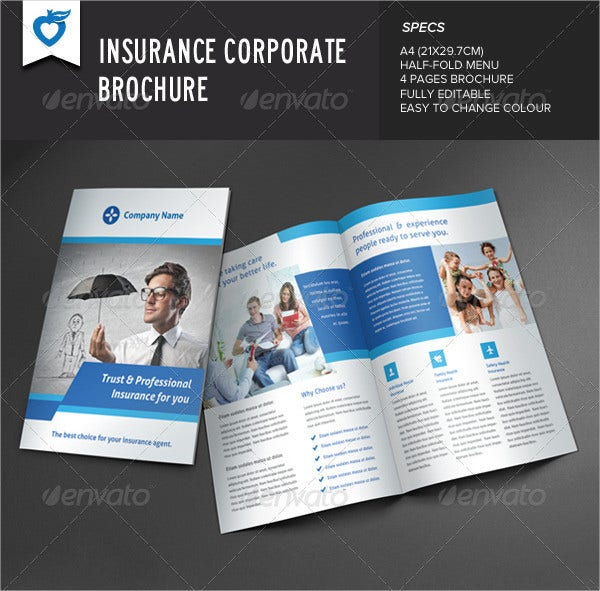 Insurance Brochure 17 Free Free Psd Vector Eps Png Format