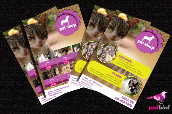 free pets animals shop brochure