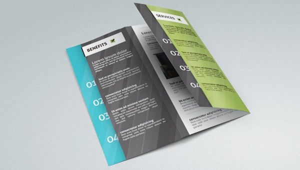 34 free brochure templates psd indesign illustration for Bi fold brochure template indesign free