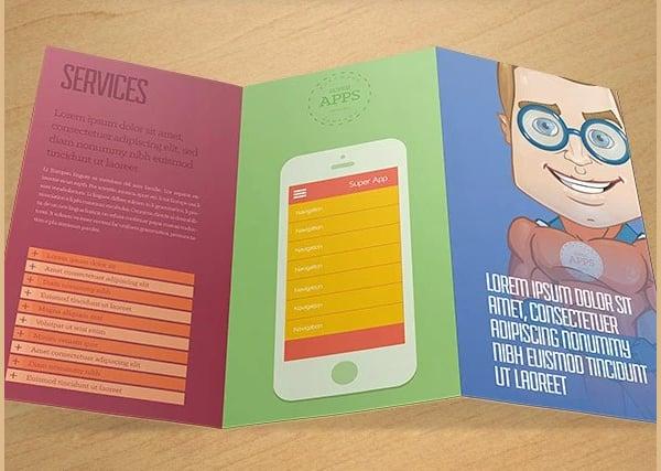 Superhero Character Trendy Free Brochure