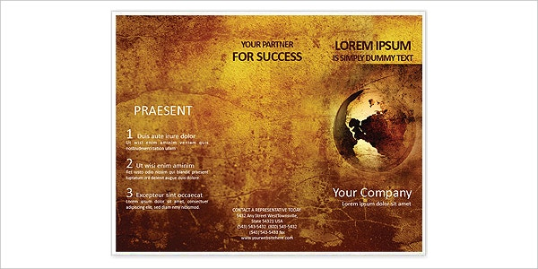 Free Ancient Map Brochure Template