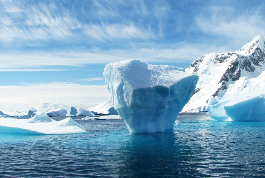 polar blue color iceberg