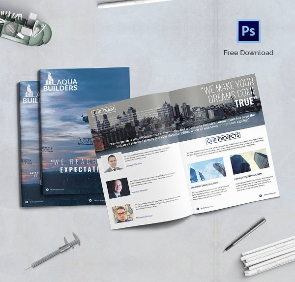Construction Company Bi-fold Brochure