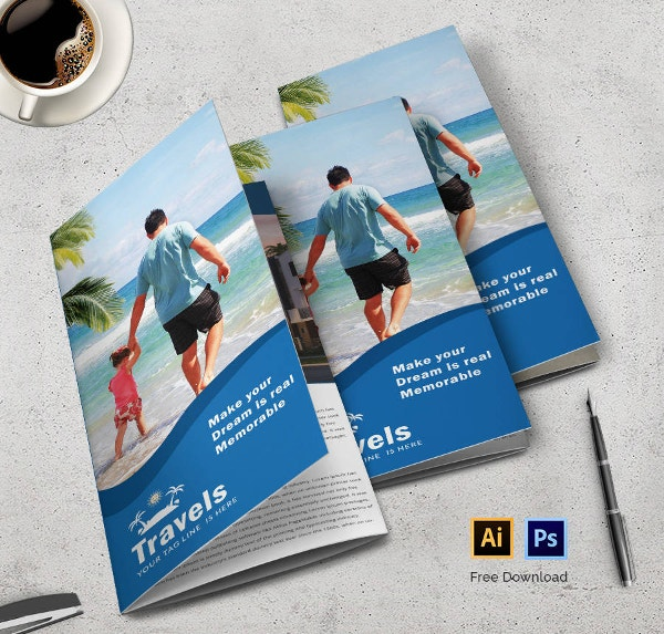 tri fold travel brochure template - free brochures 38 psd indesign illustration format