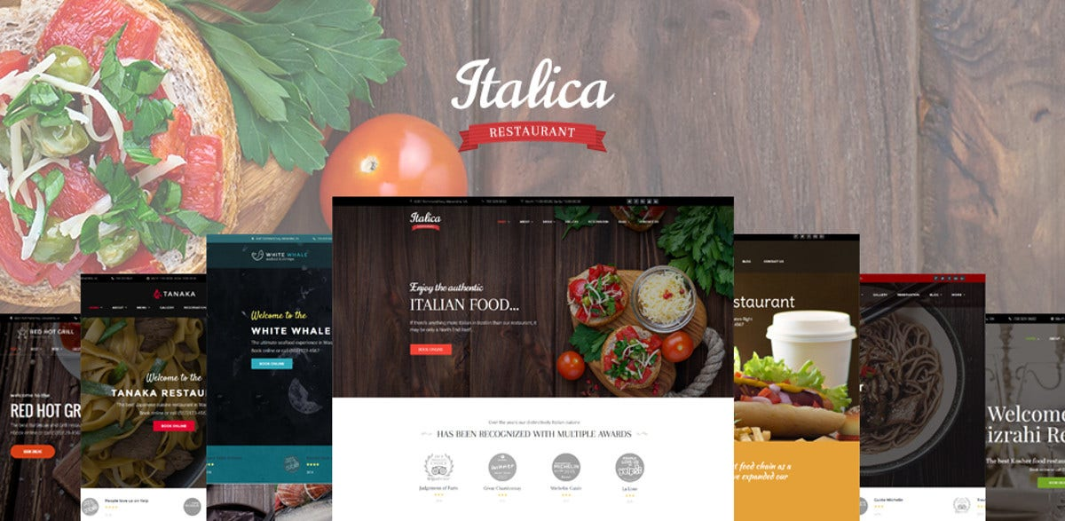 New Restaurant WordPress Theme $75