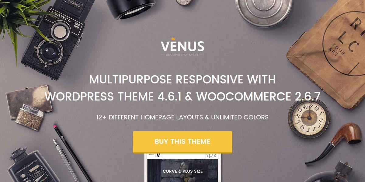 New Responsive Multipurpose WordPress Theme $ 59