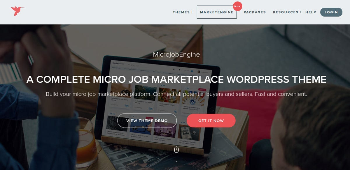 New Marketplace WordPress Theme