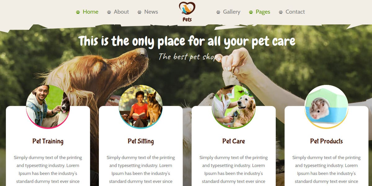 New Pet World WordPress Theme $49