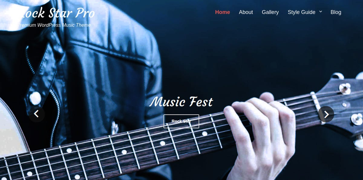 Free Rock Band WordPress Themes