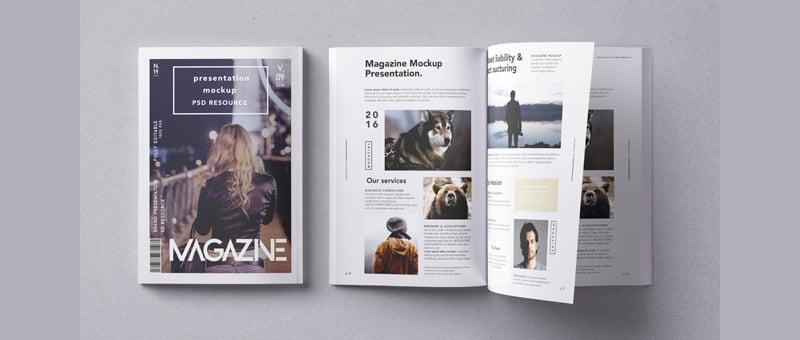 magazine mockup presentation