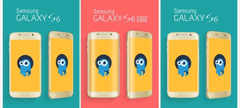 Samsung Galaxy S6 & S6 Edge PSD Mock-Up