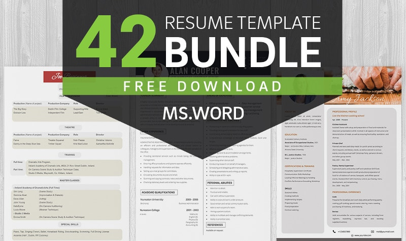 Resume Template Bundle Download