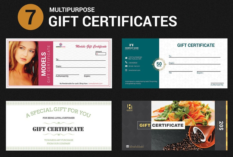 multipurpose gift certificate