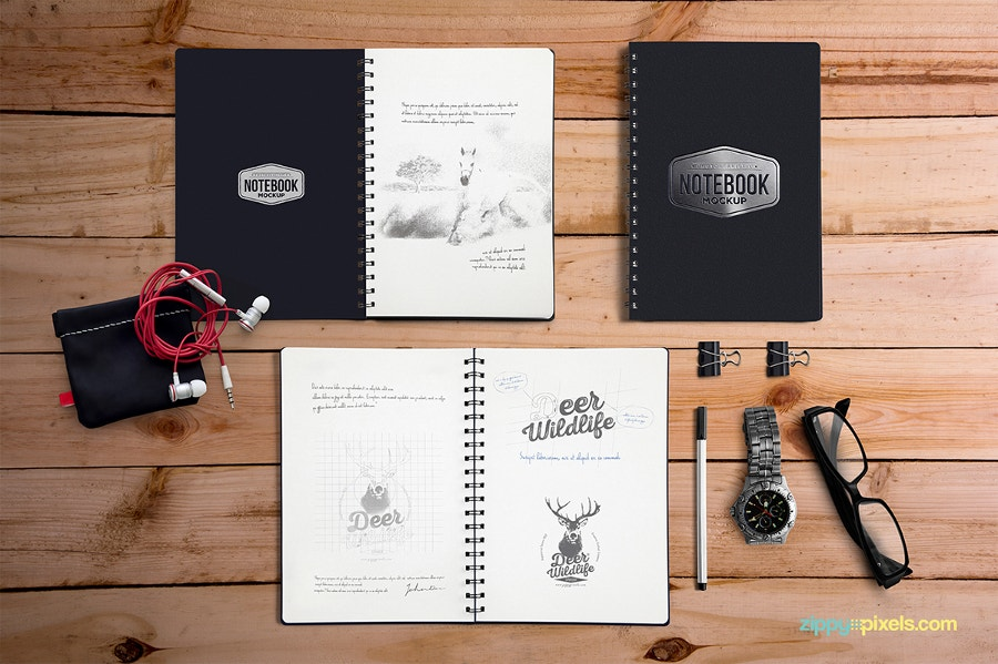 28 Beautiful Notebook Mockup Designs Psd Vector Eps