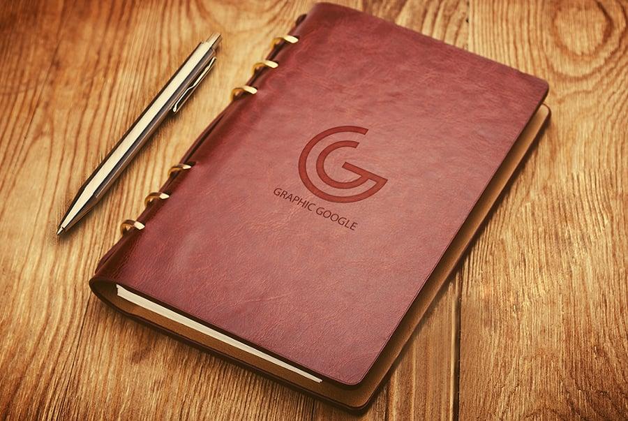 notebook-emboss-logo-mockup