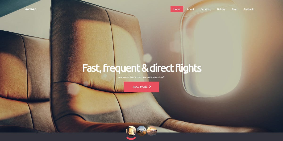 Airline Joomla WordPress Theme