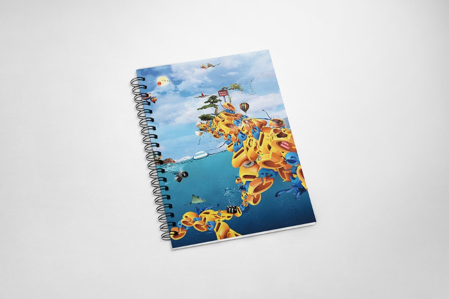 28  Beautiful Notebook Mockup Designs