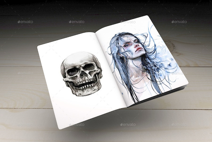 sketch-notebook-with-skull