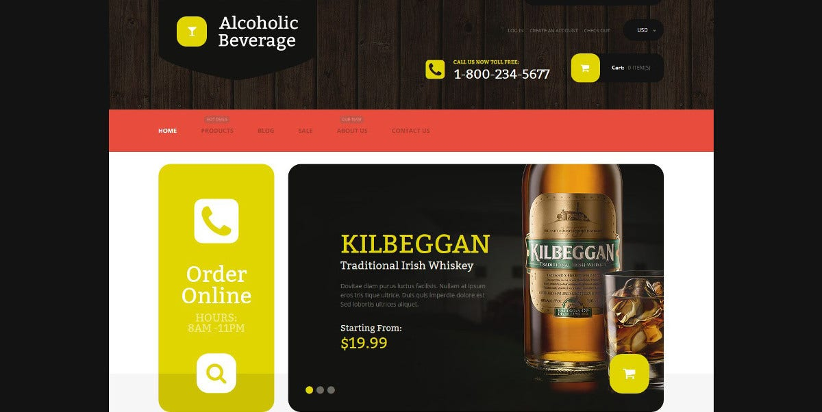 Premium Food & Beverages Store WordPress Theme