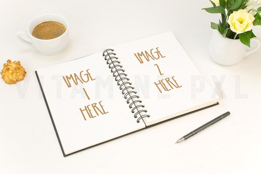 two-page-notebook-mockup